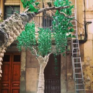 Árbol DIY para las Fiestas de Gracia